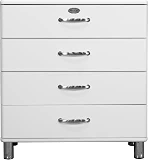 Tenzo Malibu Designer Commode 4 tiroirs, Panneaux de Particules & MDF, Blanc, 86 x 41 x 92 cm