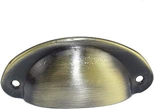 9 kleuren Vintage Kast Knoppen en Handgrepen Kastdeur Kast Lade Meubels Antieke Shell Handvat Geel