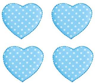 Expo BZP77591 Iron-on Embroidered Applique Patches, BaZooples Puffy Heart, 4-Pack