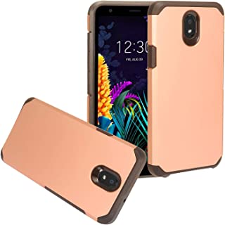 for LG Journey LTE L322DL, LG Arena 2, Tribute Royal, Escape Plus, LG K30 (2019) LM-X320 - Rubberized Hybrid Phone Case