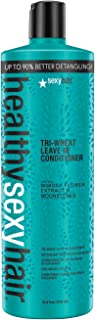 Healthy Sexy Hair Soy Tri-Wheat Leave-In Conditioner by Sexy Hair for Unisex - 33.8 oz Conditioner