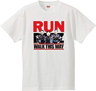 南堀江のおもしろtシャツ 「RUN DMZ(キム一族)」 ストリートスタイル 元ネタを教えたくなる おもしろ半袖Tシャツ ホワイト