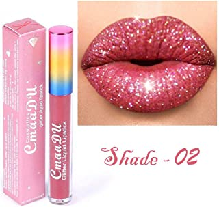 Mismoxy Waterproof Long Lasting Durable Matte Liquid Lipstick Beauty Lip Gloss,Glitter Flip Liquid Lipstick, Sexy Moisturizing Lipstick Lip Gloss Fashionable Colors (02)