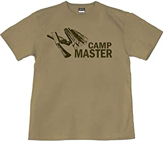 [GENJU] Tシャツ 薪 ナタ 鉈 キャンプ キャンパー サバイバル アウトドア outdoor メンズ キッズ