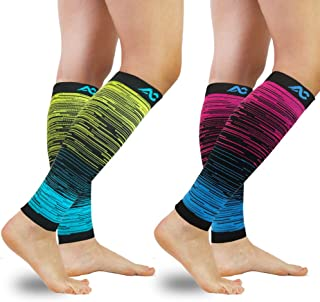 Compression Calf Sleeves (20-30mmHg) for Men & Women - Leg Compression Socks for Shin Splint,Running,Medical, Travel, Nursing