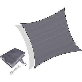 Sunnylaxx Tenda a Vela Triangolare 4 x 4 x 4 Metri Balcone /& Terrazza Vela Ombreggiante Impermeabile e Resistente per Giardino Colore Grigio