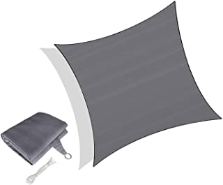 Graphite HDPE Respirant Protection Rayons UV pour Jardin Terrasse Patio Shack Voile dombrage Triangle Rectangle 4,2x4,2x6m