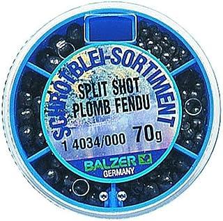 YFPICO Schrotblei grob 500pcs,Bleischrot Sortimentsdose 0.2g-1.2g,Spaltbleie Schrotblei zum Angeln gelocht