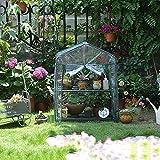 WMQ Invernadero para Exteriores con Ventanas de observación Nueva versión, pequeños Soportes para Plantas Casa Verde para plántulas, Flores, Cultivo de Plantas