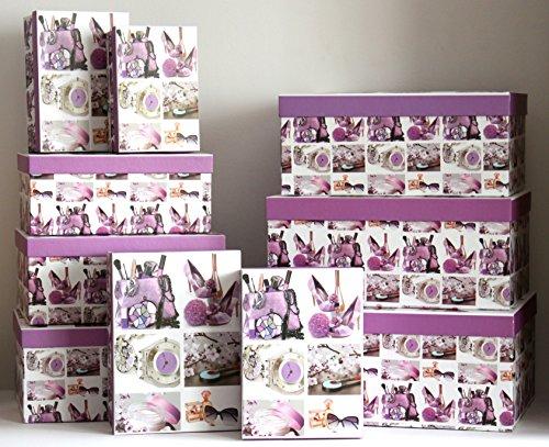 K&B Vertrieb Boîte cadeau Pack de 10 (1820) – K & B Distribution de boîte cadeau emballage cadeau carton Boîte de rangement Coffret cadeau Box Boîtes cadeau boîte cadeau cadeaux