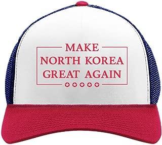 Make North Korea Great Again Funny Trump Kim Trucker Hat Mesh Cap