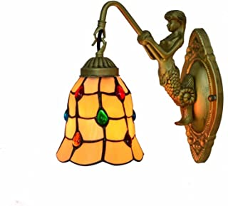 6 Inch Vintage Stained Glass Art LED Wall Light High Quality