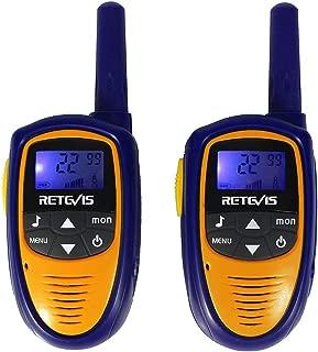Retevis RT31 Mini Kids Walkie Talkies Children Handheld Two Way Radio with VOX LCD Display for Birthday Gift Christmas (Purple,1 Pair)