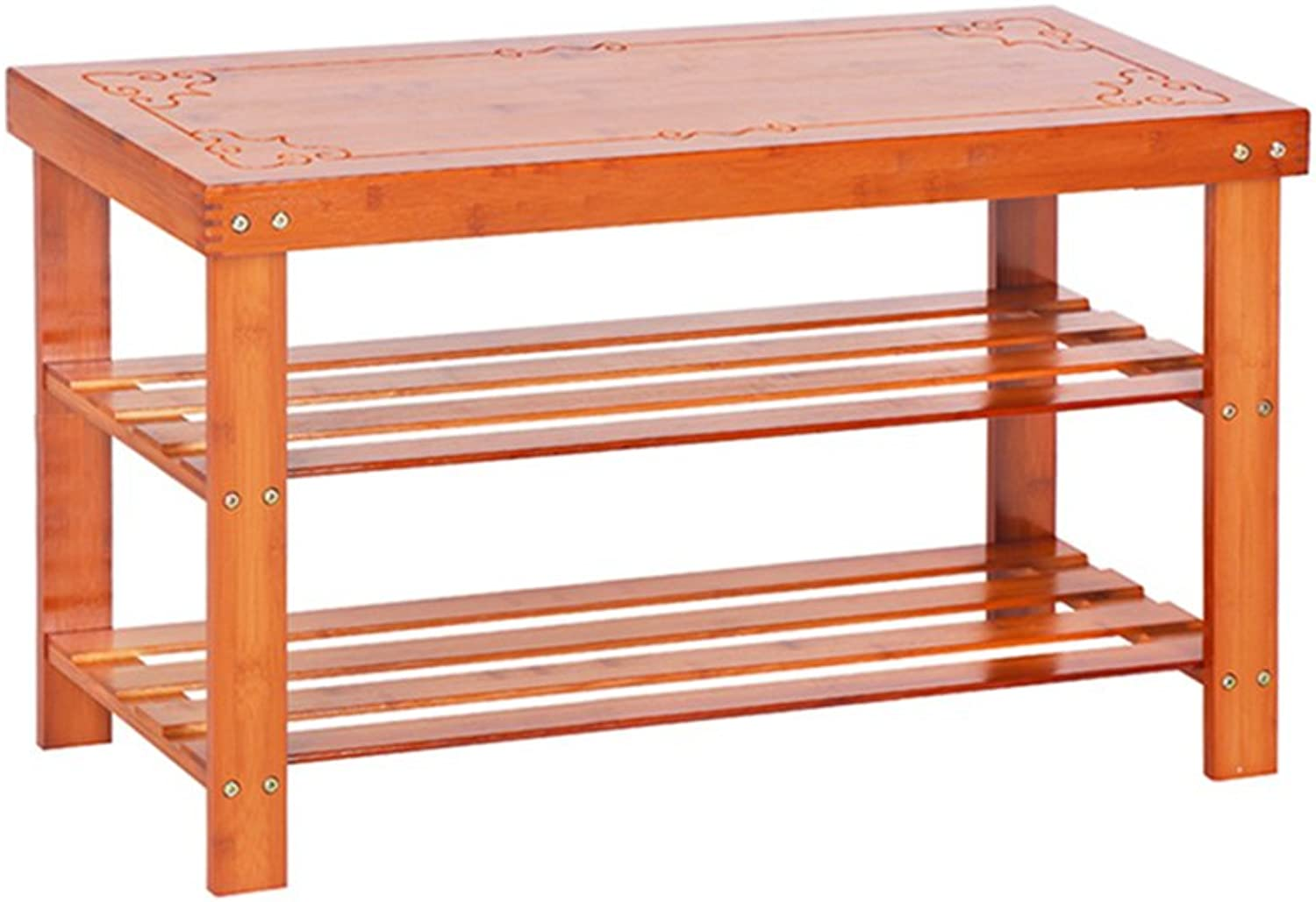 LXJYMXshoes Rack, Multi-Purpose shoes Rack shoes Frame Multi-Layer Simple Household Solid Wood shoes Cabinet shoes Bench Bamboo Storage Rack Assembly Modern Simple dust shoes Rack (Size   80  28  45cm)