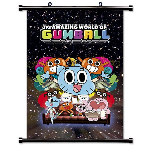 The Amazing World of Gumball TV Show Cartoon Network Fabric Wall Scroll Poster (16' x 24') Inches