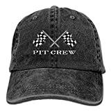 Source Point Checkered Flags Race Car Flag Unisex Adult Baseball Hat Sports Outdoor Cowboy Cap for Men and Women Snapback, Black, One Size