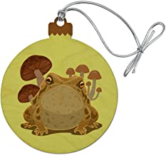 GRAPHICS & MORE Toad Sitting in Front of Mushrooms Wood Christmas Tree Holiday Ornament