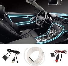 STYLINGCAR Luces LED Coche Interior Impermeable, Led Iluminación Interior del Coche Llevaron USB (Azul hielo)