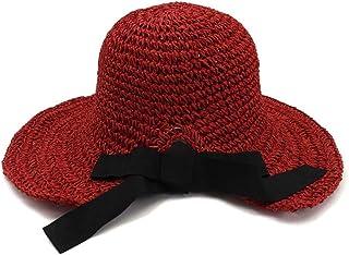 SHENTIANWEI Handmade Crochet Spring Summer Straw Hat Female Folding Outdoor Sunscreen Beach Hat Visor Big Hat