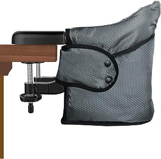 テーブルチェア ベビーチェア 食事 Toogel 赤ちゃんハイチェア 折り畳みチェア 携帯 ベビー椅子 ベビーシート 直立と滑りを防止 厚い生地 20秒簡単に取り付け 収納袋付(グレー)
