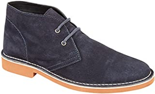Mens Real Suede 2 Eye Desert Boots