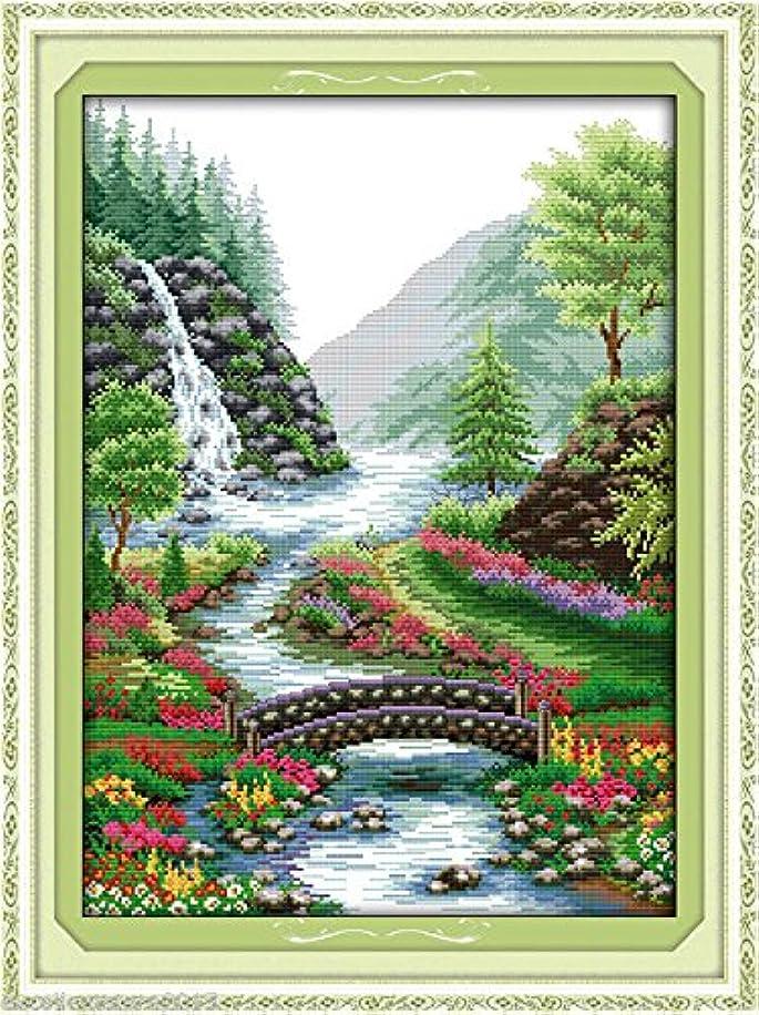 Bridge River DIY Embroidery Kit Precise Printed Needlework Cross stitch