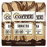 Fresh Roasted Coffee LLC, Sumatra Mandheling Coffee, Medium Roast, Low Acidity, Ground, 12 Ounce Bags, 3 Pack