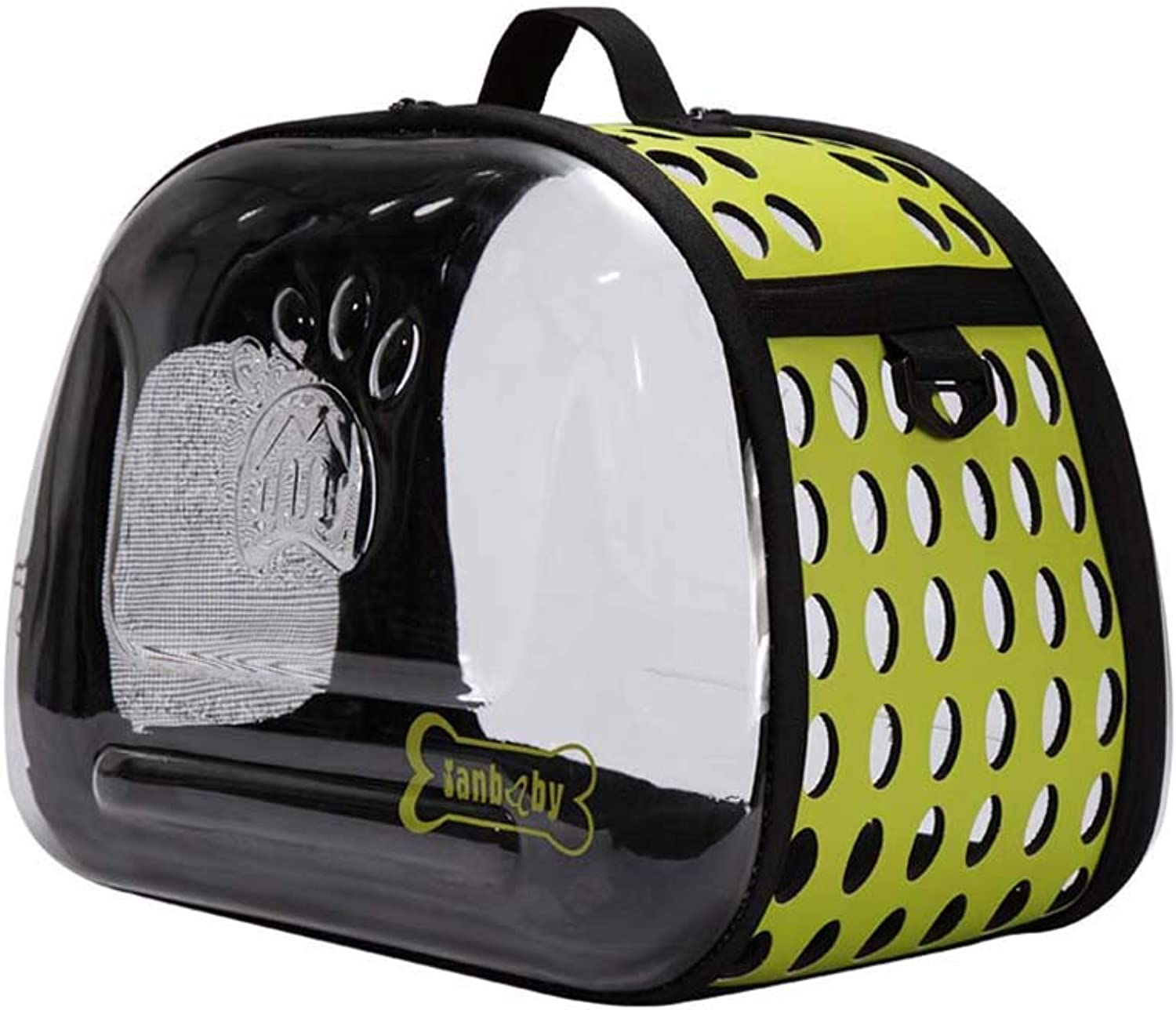 EVA pet bag, out of the Dog Travel Carrier Bag, Cat Kennels for SMALL Dog and Cat (color   Green, Size   MouseM)