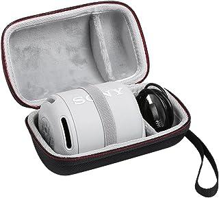 ソニー SONY SRS-XB12 ケース SRS-XB10 収納ポーチバッグ 保護ケースポータブル キャリングケース -GREAT BLESS (ブラック+グレー)