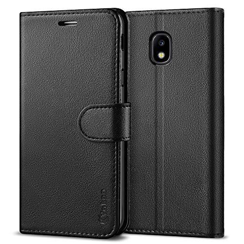 Vakoo Serie Wallet Cover per Samsung Galaxy J3 2017 Custodia, Nero