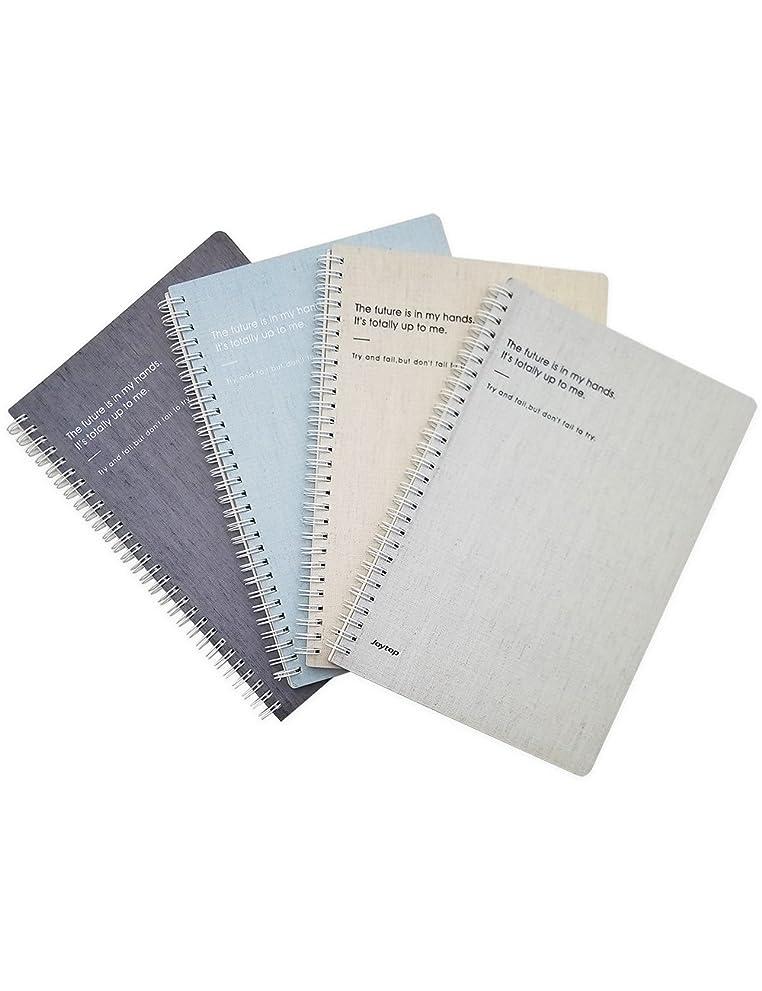 ミシンロビーマンモスWhat 's Fun b5スパイラルテーマDesignedハードカバーカレッジルールドノートブック/コンポジション/仕訳/Dairy/Office Note Booksパックof 4?(マル)