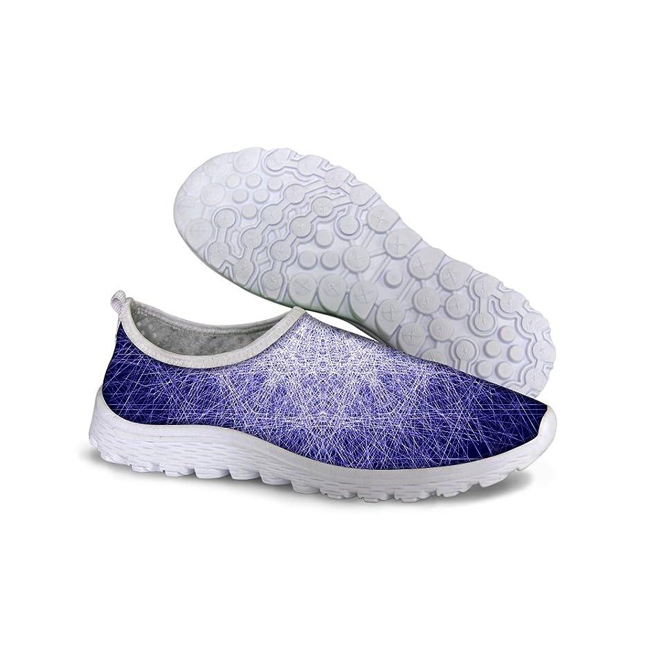 いらいらする四回手当For U Designsヴィンテージ女性用通気性メッシュスニーカーランニング靴