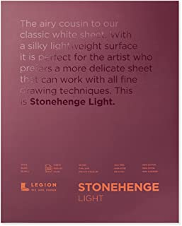 Legion Stonehenge Lightweight Pad, Cotton Deckle Edge Sheets, 11 X 14 inches, White, 30 Sheets (L21-STP135WH1114)
