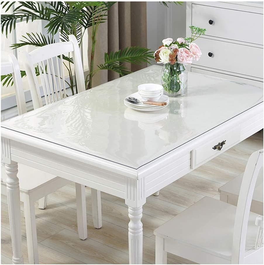 Clear Table Cover Protector Waterproof Overseas parallel import regular item Rectangle Tablecl Fresno Mall Plastic