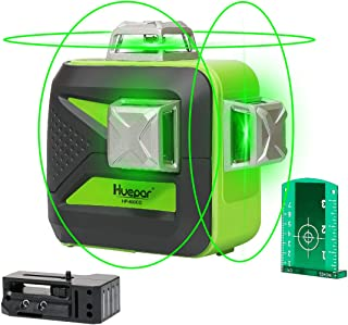 Huepar 3D Green Beam Self-Leveling Laser Level 3×360 Cross Line Laser Three-Plane..