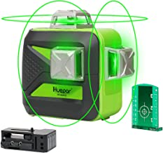 Huepar 3D Green Beam Self-Leveling Laser Level 3x360 Cross Line Laser Three-Plane Leveling and Alignment Line Laser Level ...
