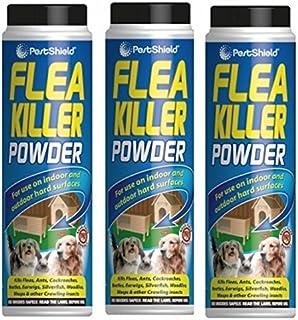 PestShield Polvo insecticida para pulgas e Insectos Rastreros, Ideal para Interiores y Exteriores...