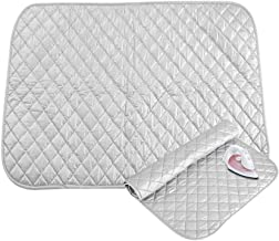 Go2buy Ironing Blanket, Magnetic Ironing Mat Laundry Pad, Quilted Washer Dryer Heat Resistant Pad, Ironing Board Covers (60x55cm, Grey)