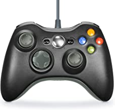 Xbox 360 Controller, VOYEE Wired Controller Gamepad for Microsoft Xbox 360 & Slim/Windows/PC (Grey & Black)