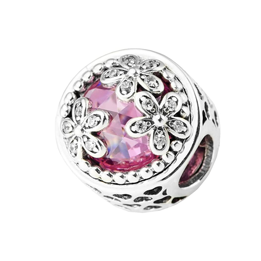 TRENDTIDE Spring Collection 925 Sterling Silver Dazzling Daisy Meadow Charm Bead DIY Fits for European Bracelets Jewelry
