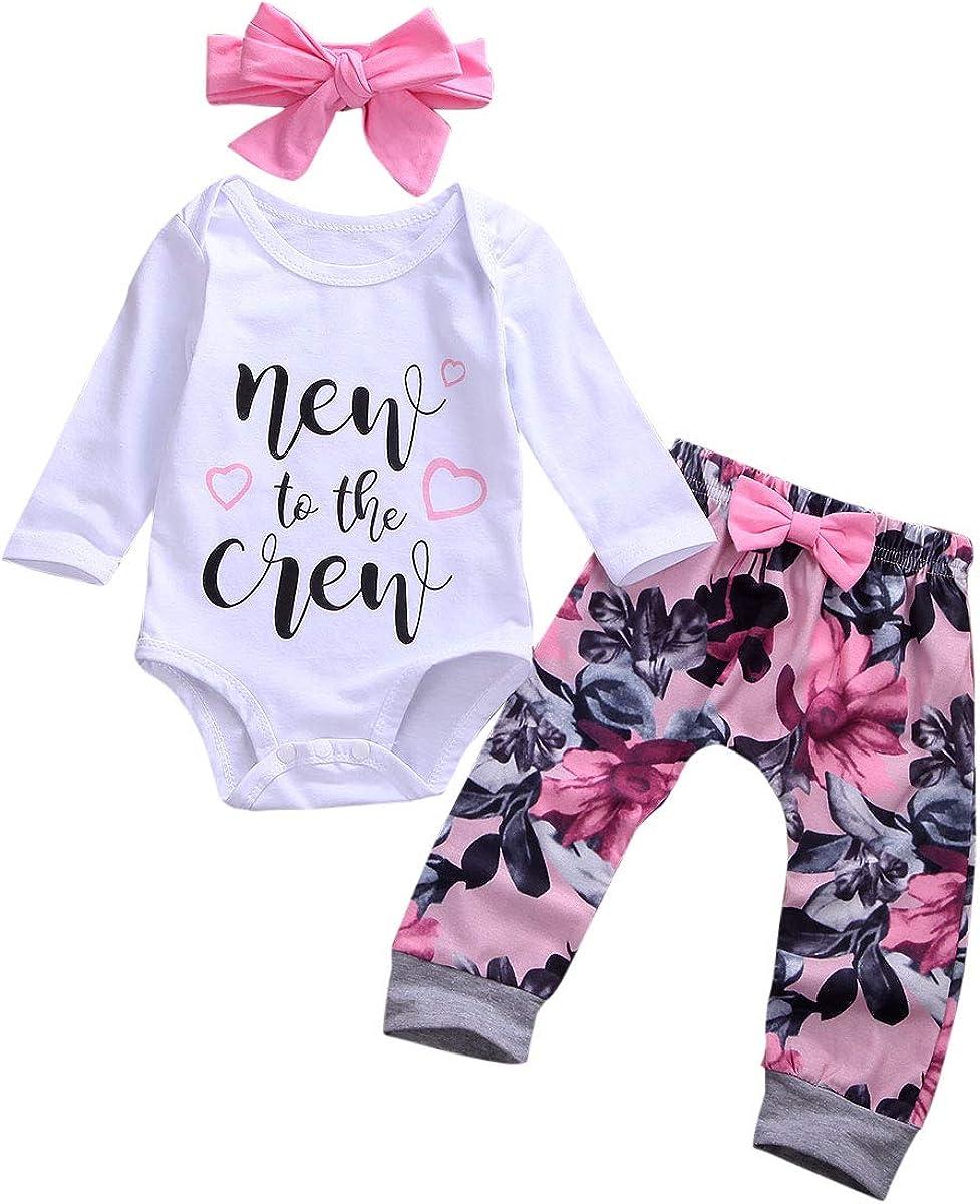 Newborn Baby Girl Clothes Cute Baby Girl Outfits Ruffles Long Sl