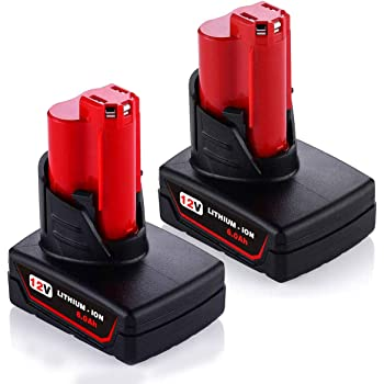 2xFor Milwaukee M12 Lithium XC 6.0 Extended Capacity Cordless Battery 48-11-2460