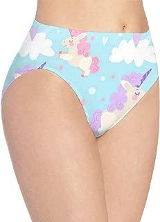 yujiasuliao Womens Underwear Pink Azalea Flowers Special Bikini Brief Hipster Underpants