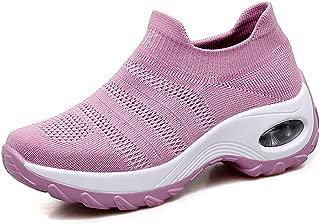 STQ Slip On Breathe Mesh Walking Shoes Women Fashion...