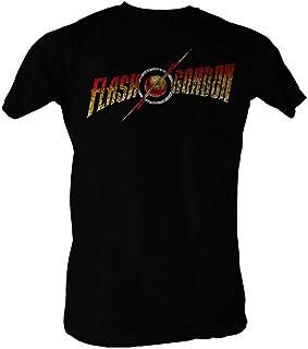 تي شيرت للكبار أسود بشعار Flash Gordon من American Classics مقاس L
