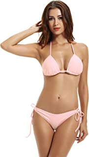 Women's Tie Side Bottom Triangle Bikini Swimsuits