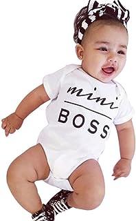 Bekleidung Longra Neugeborene kleidet Baby Mädchen Bodysuit Spielanzug Overall Ausstattung Strampler Outfits0-24 Monate