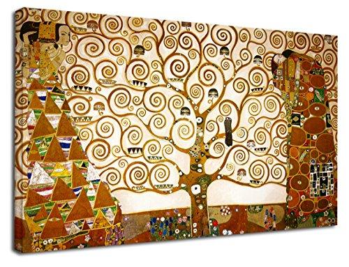 GRAFIC Quadro Klimt L'Albero della Vita - Gustav Klimt The Tree of Life Quadro stampa su tela canvas con o senza telaio (CM 130X76, QUADRO CON TELAIO IN LEGNO)