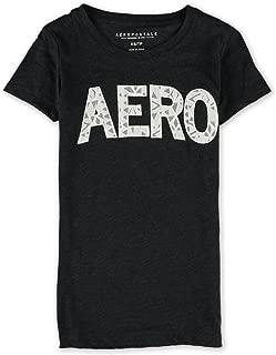 AEROPOSTALE Womens Crochet Logo Embellished T-Shirt