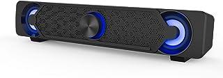 Computer Speakers,Smalodi PC Speaker Mini Led Soundbar Cool Design Perfect for Gaming Laptop Desktop Notebook